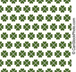 Seamless Four Leaf Clover Pattern - Seamless four leaf...