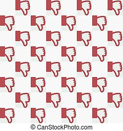 Seamless Thumbs Down Pattern - Seamless thumbs down dislike...