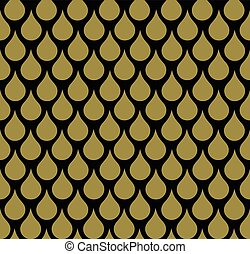 Seamless Animal Scale Pattern - Seamless gold animal scale...