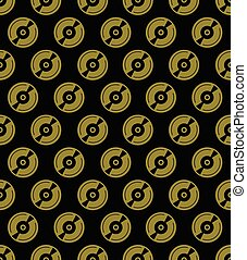 Seamless Gold Record Pattern
