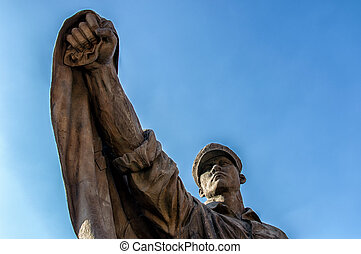 War Statue - Unknown Soldier Memorial Statue at Korean War...