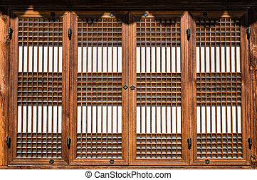 Korean Windows - Traditional Korean Wooden Windows Style in...