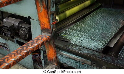 Industrial Offset Press Tilt Up - Tilt up shot of stationary...