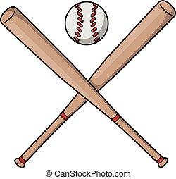 Baseball bat cartoon illustration