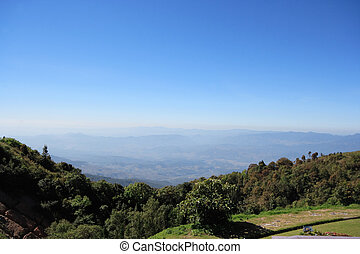 The scenery of Doi Inthanon Nationa - Beautiful Viewpoint at...