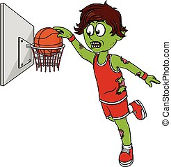 Zombie basket ball player