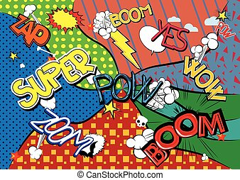 Comic book abstract background