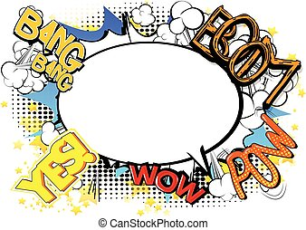 Comic book abstract background - Comic book style abstract...