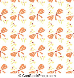 Pattern with bows of different sizes