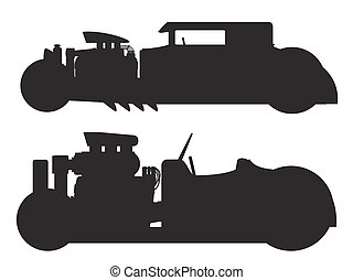 Hot rod car - A vector illustration of a vintage hot rod...
