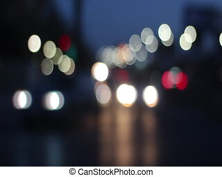 Urban traffic scene with bokeh