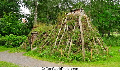 quot;first houses of norwagian tribes from prehistorical...
