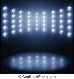 Vector stage lights, Abstract sparkling background