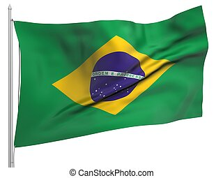 Flying Flag of Brazil - All Countries Collection To view...