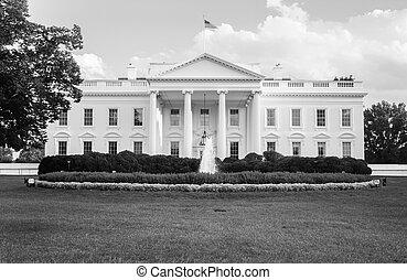 The White House in black and white - The official residence...