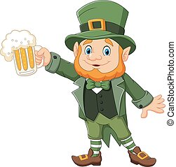 Cartoon St Patrick's Day - Vector illustration of Cartoon St...