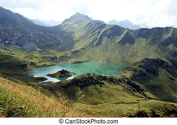 Bergsee - A wonderful, clear lake, in the middle of the...