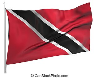 Flying Flag of Trinidad and Tobago - All Countries...