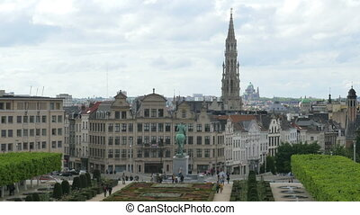 """brussels downtown view, belgium"""