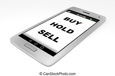 Smartphone Buy Hold Sell