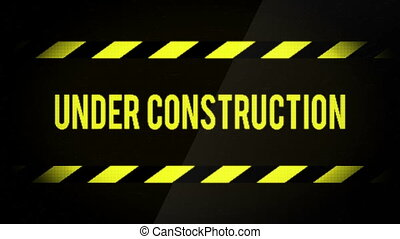 Under Construction Web Site Message