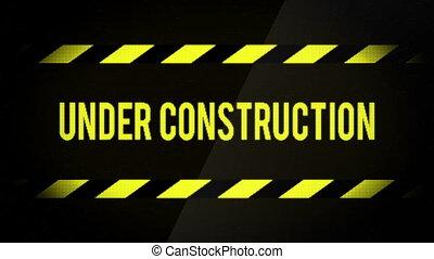 Under Construction Web Site Message