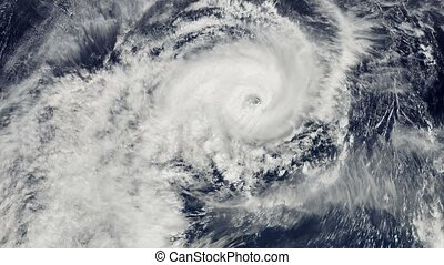Hurricane Storm, satellite view. Elements of this image...
