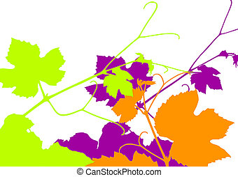 Grapevine - Vector illustration of grape vine leaves