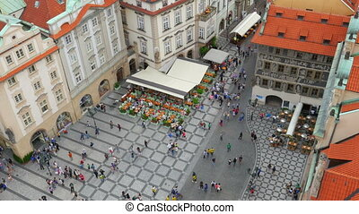 """prague, old town square, czech republic, 4k"""