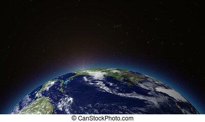 Beautiful Sunrise Over The Earth.