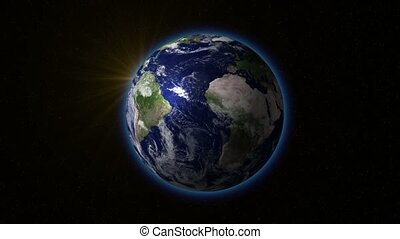 Earth rotating with the Sun v1