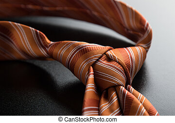 orange tie knot - elegant casual orange neck tie knot on...