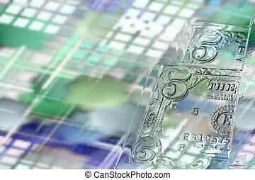 cash - abstract scene hard cash