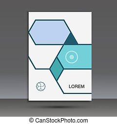 Vector abstract hexagon set