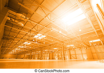 Storehouse - Perspective of storehouse with skylights. Toned...