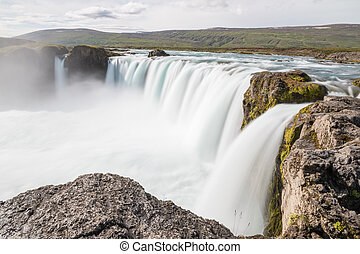 Majestic Godafoss - waterfall of the Gods - in Iceland