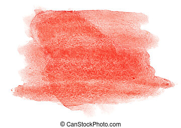 Red watercolor strokes - abstract background