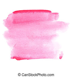 Pink watercolor strokes - abstract background and space for...