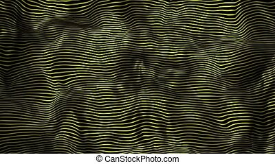 Floating surface with yellow stripes