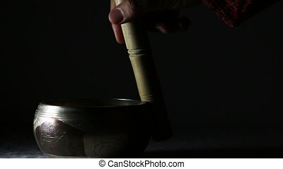 The sound of Tibetan singing bowl