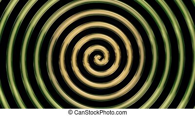 Rotating golden spiral on black