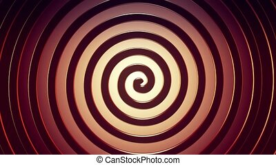 Rotating spiral in red color