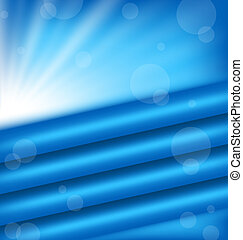 Abstract background with blue rays - Illustration abstract...