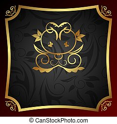 ornate decorative golden frame