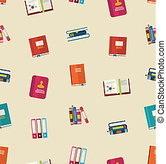 Seamless Pattern of Colorful TextBooks - Illustration...