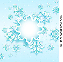 Christmas bubble with set snowflakes - Illustration...
