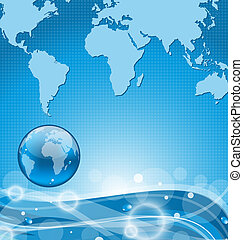 Abstract water background with earth - Illustration abstract...