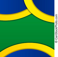 Abstract background in Brazil flag colors