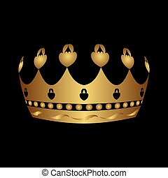 gold royal crown isolated - Illustration gold royal crown...