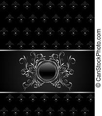 Illustration luxury vintage titanium frame template - vector